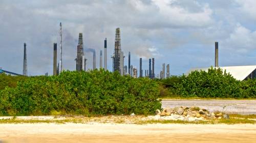 Oil Refinery at Baby Beach, Aruba, 2012
